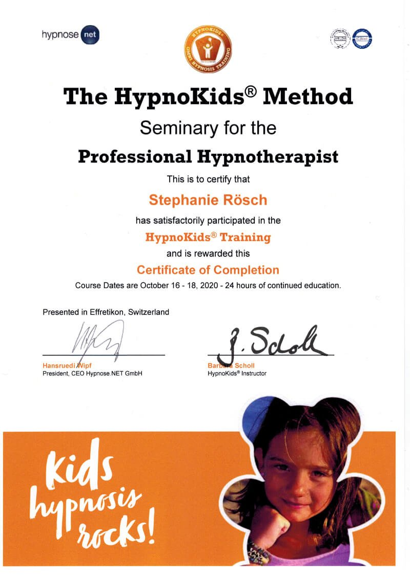 zertifikat weiterbildung hypnokids stephanie roesch